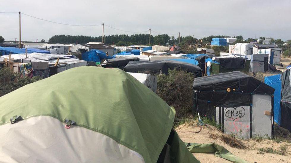 Campo de refugiados de Calais.Campo de refugiados de Calais