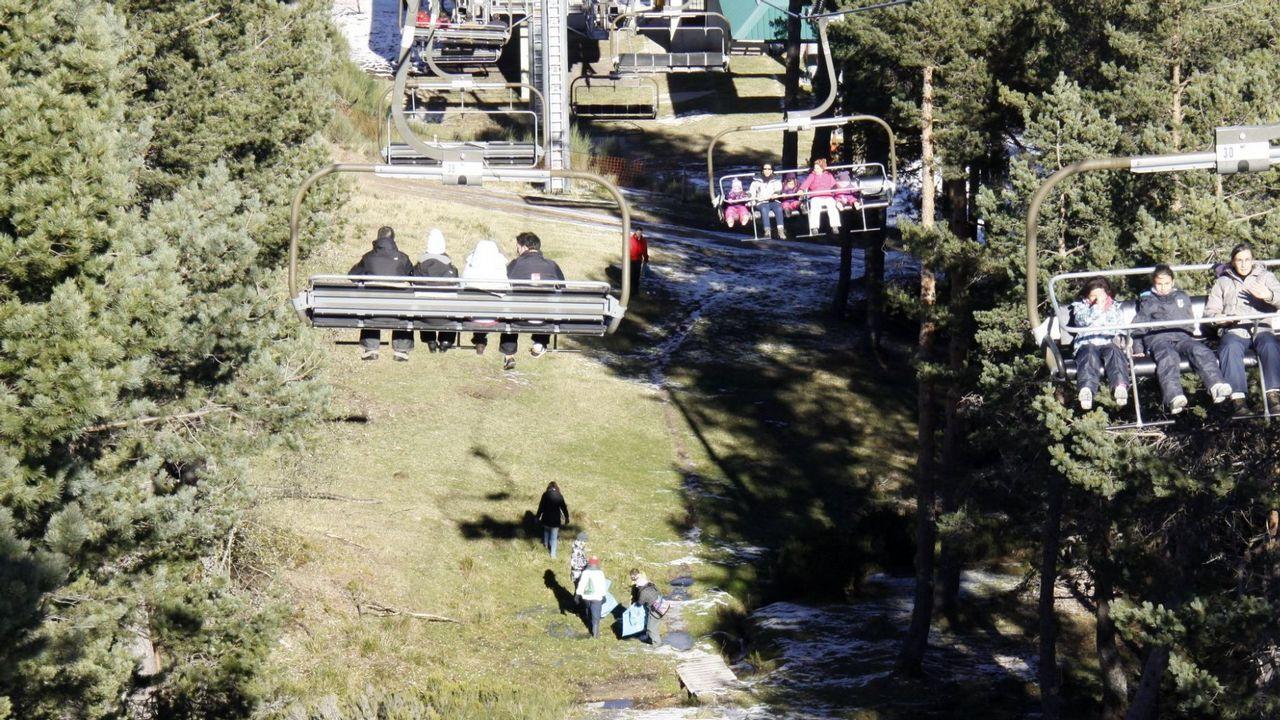 La Semana Santa en Asturias se pinta también de blanco.Estación de esquí Valgrande-Pajares