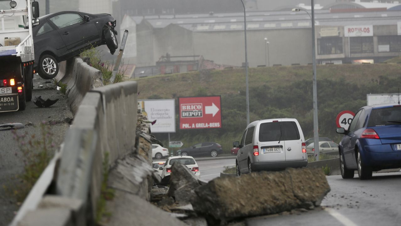 Accidente en avenida Gran Canaria