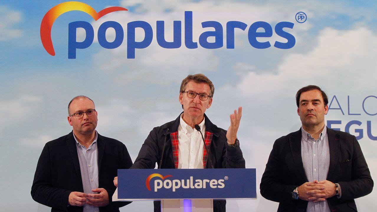 Feijoo, durante la valoración de los resultados electorales por parte el PPdeG
