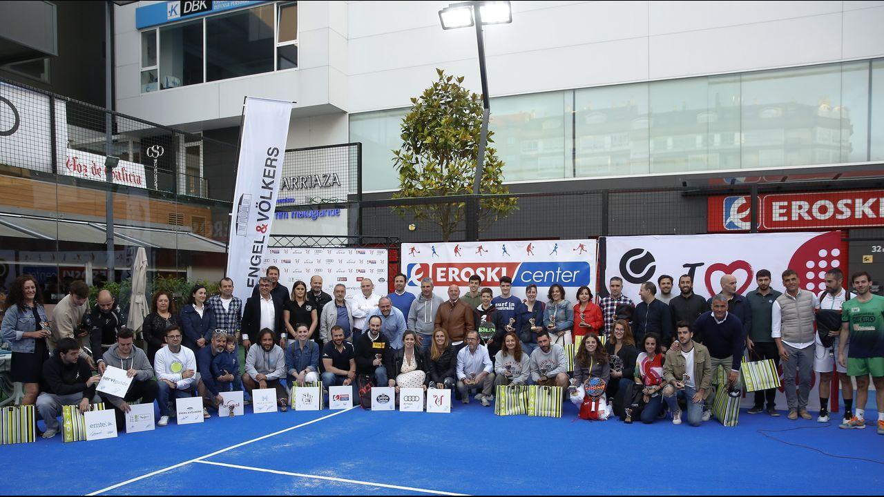 Todas las imágenes del Torneo de Pádel de La Voz de Galicia.Ferreiro, Noriega y Suárez, un año después de que se convirtieran en alcaldes de sus ciudades