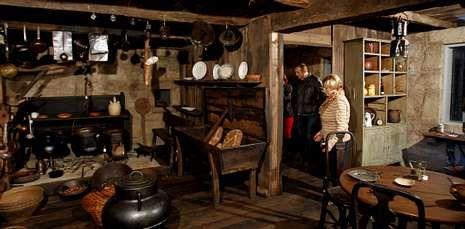 En el interior de la Fundación Sotelo Blanco, en San Marcos, se puede visitar una casa tradicional.