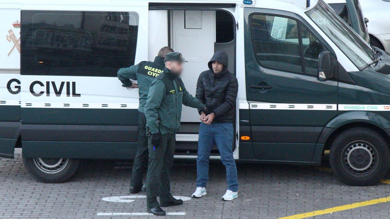 El presunto asesino, a su llegada a los juzgados