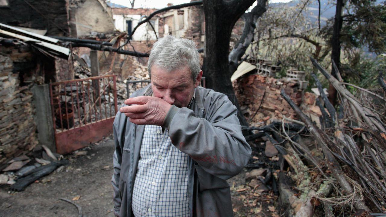 Una semana después del fuego en Cervantes