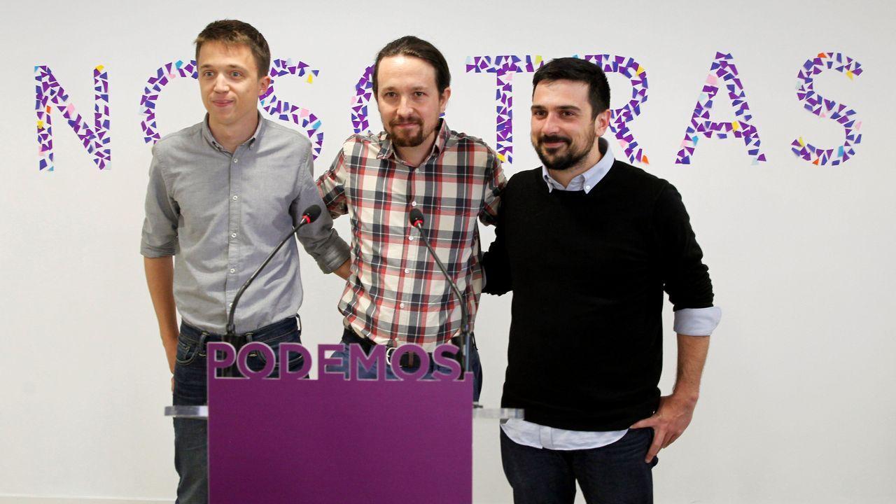 Pablo Iglesias presentó el acuerdo Errejón-Espinar, que justificó por su obligación de «cuidar Podemos», pero acto seguido se marchó y evitó la rueda de prensa