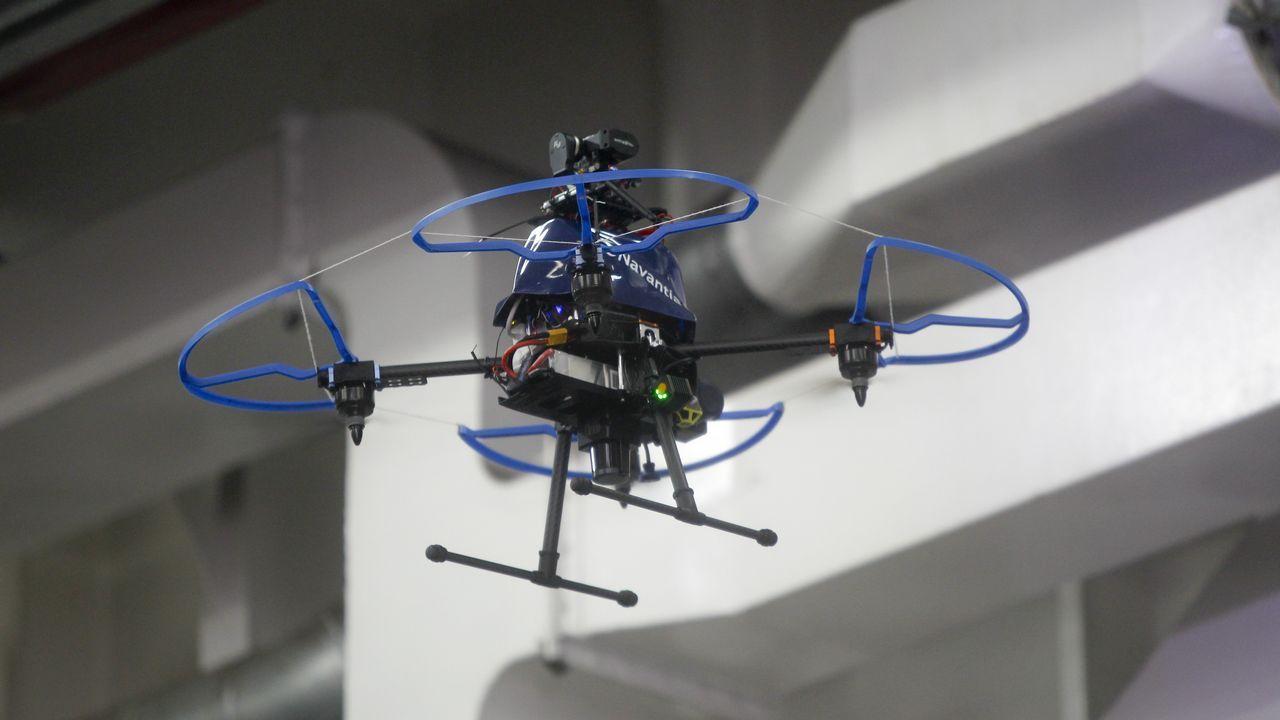 Los drones que ya vuelan por Navantia.