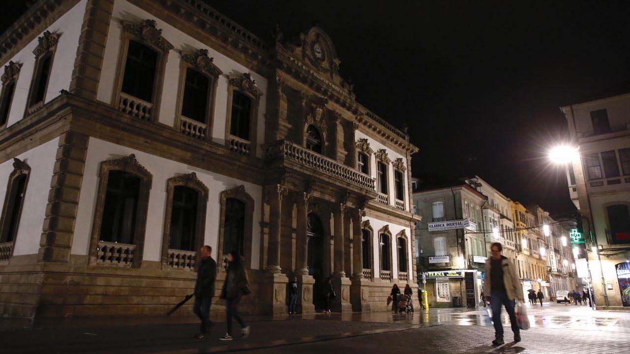 El Concello de Pontevedra también apagó sus luces