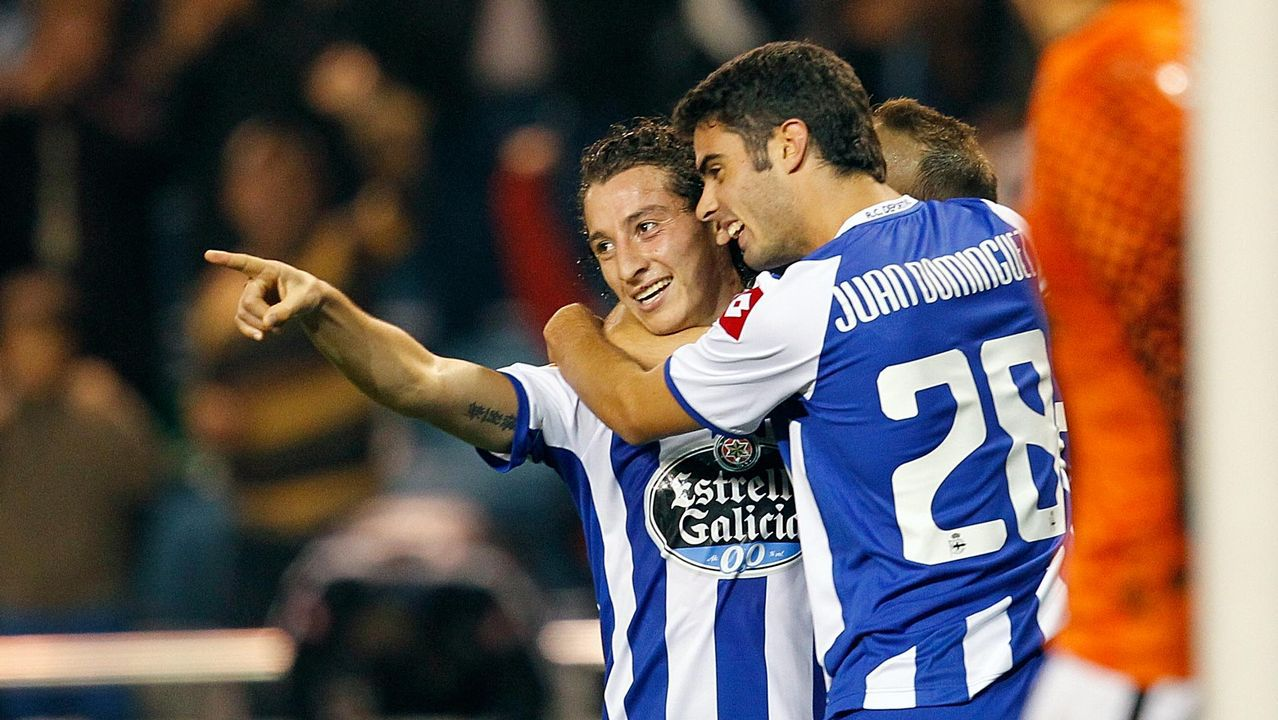 Juan Domínguez y Andrés Guardado jugando juntos en segunda división