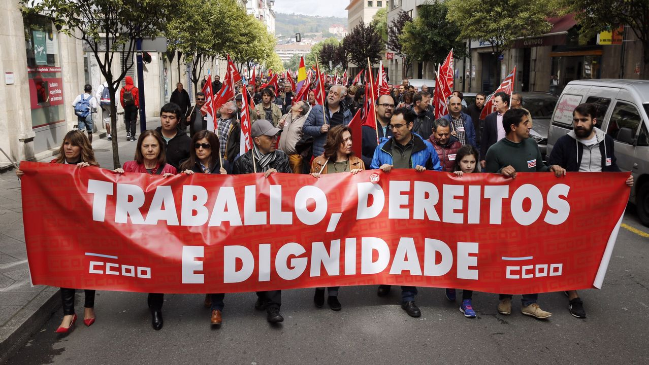 .Manifestación del 1.º de Mayo en Ferrol
