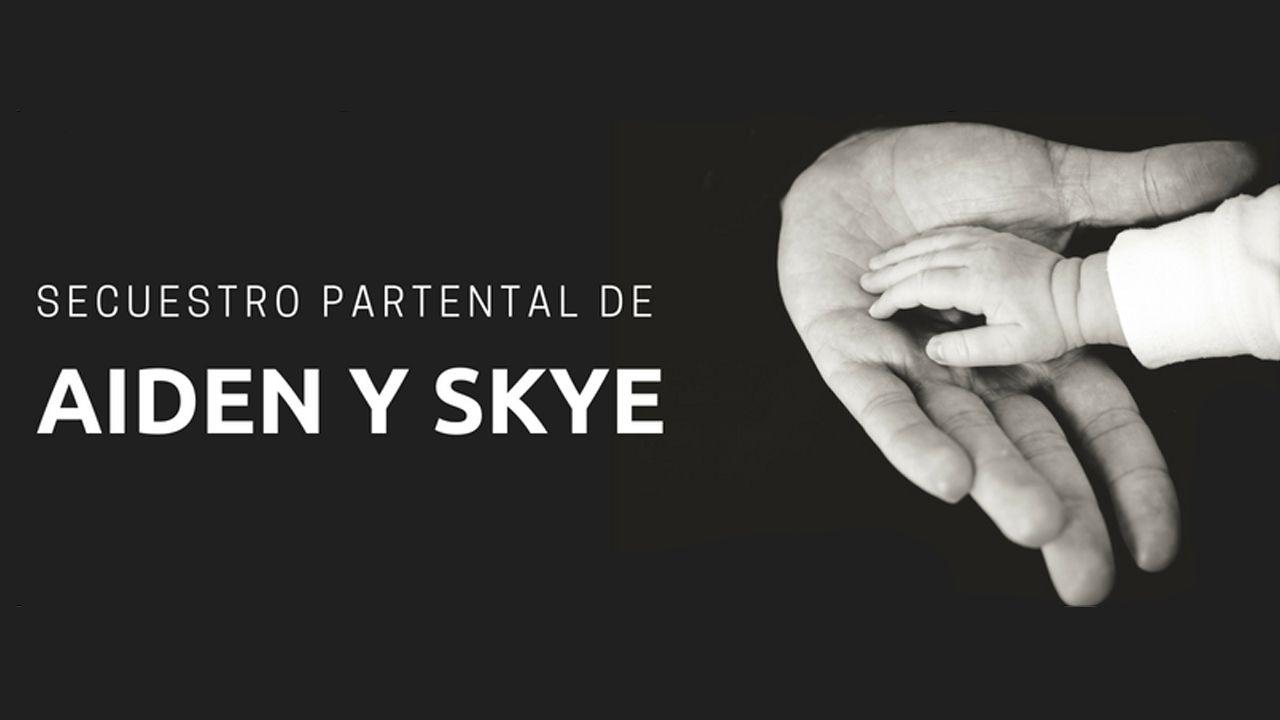 Imagen de la campaña en redes emprendida por Miriam Ruiz para denunciar el secuestro parental de sus gemelos Aiden y Skye