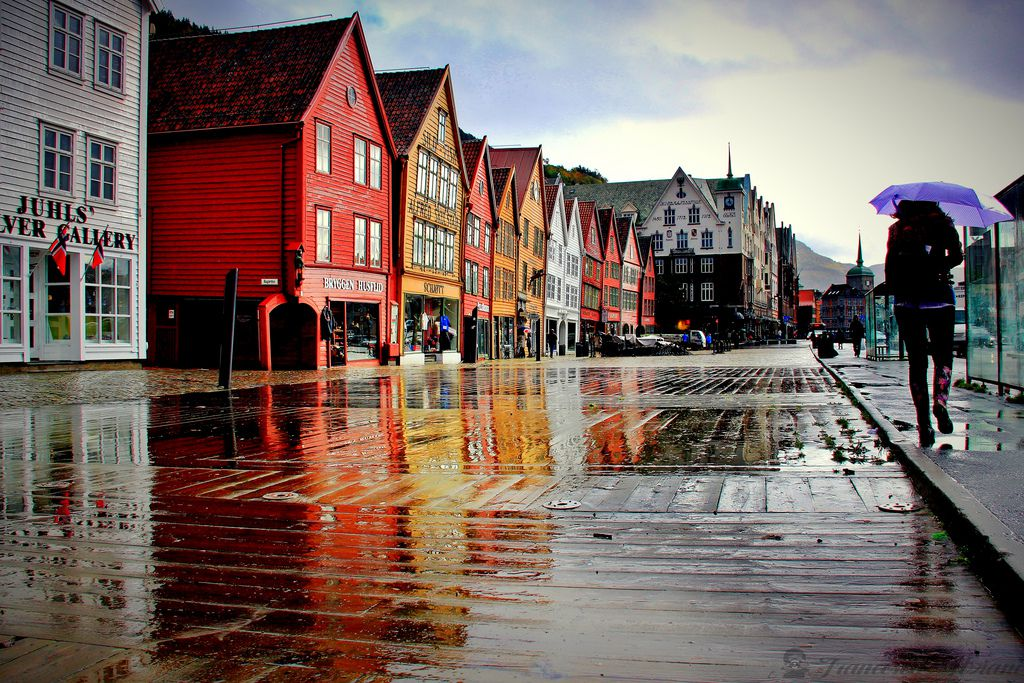 La lluvia une a Galicia con Noruega.Isabel Barreto