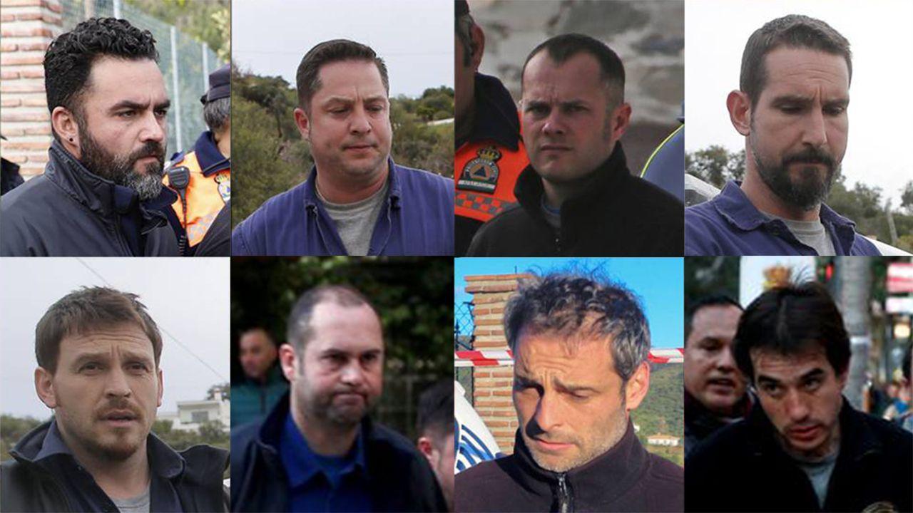 Estos son los 8 mineros encargados de rescatar a Julen.VISTAS DEL CHUAC. HOSPITAL