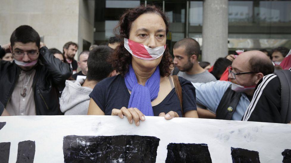Manifestación contra la Ley Mordaza en A Coruña, el 30 de junio del 2015