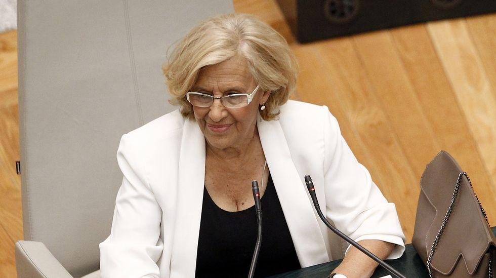 .Carmnena, durante su investidura ayer como alcaldesa.