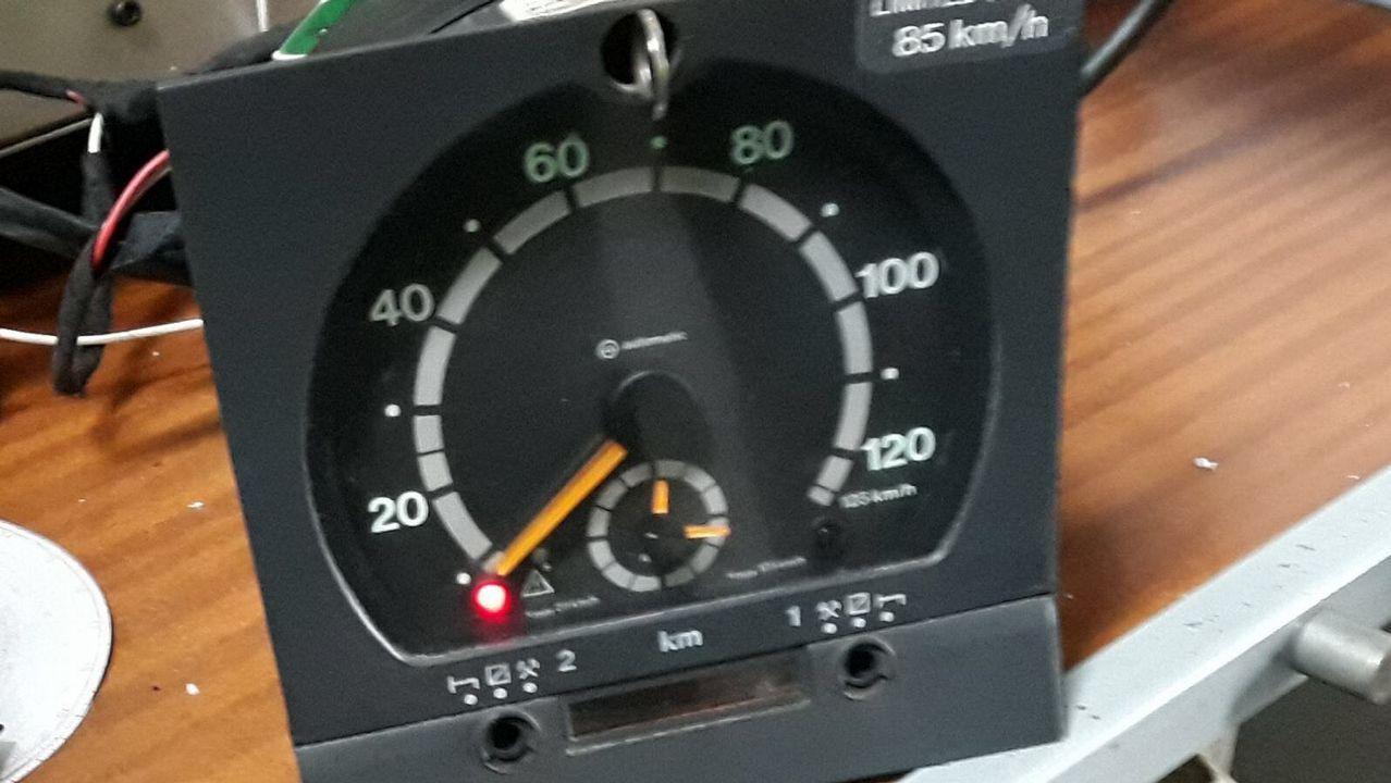 Especialistas en la inspección de Transportes interceptan a un camionero  lituano con el tacógrafo manipulado