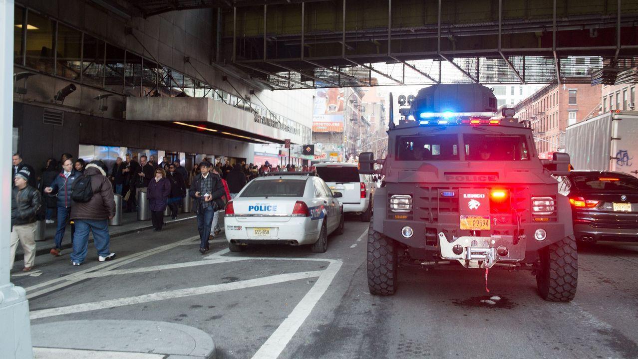 Un detenido en Nueva York tras una explosión en una estación de autobuses