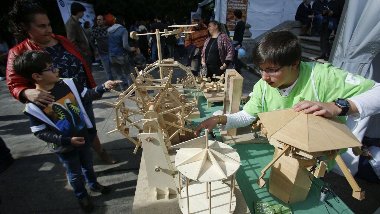 Día de la Ciencia en la Calle en el parque Santa Margarita