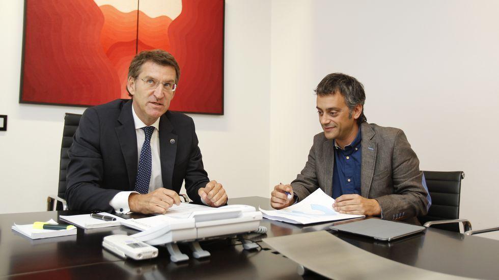 .Feijoo y Ferreiro en su reunión en Santiago