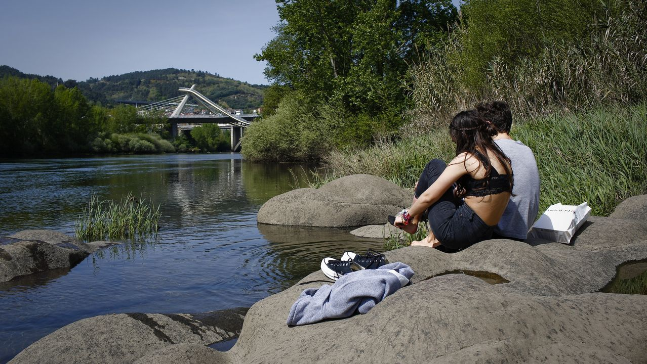 En Ourense los termómetros rozaron los 30 grados