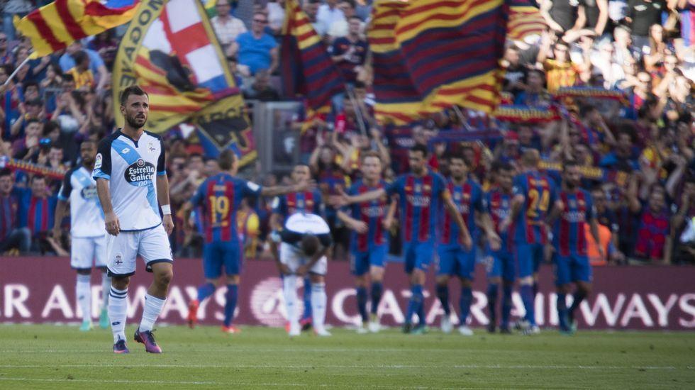 El Barcelona-Deportivo, en fotos.Borja Domingo, durante el partido contra el Choco