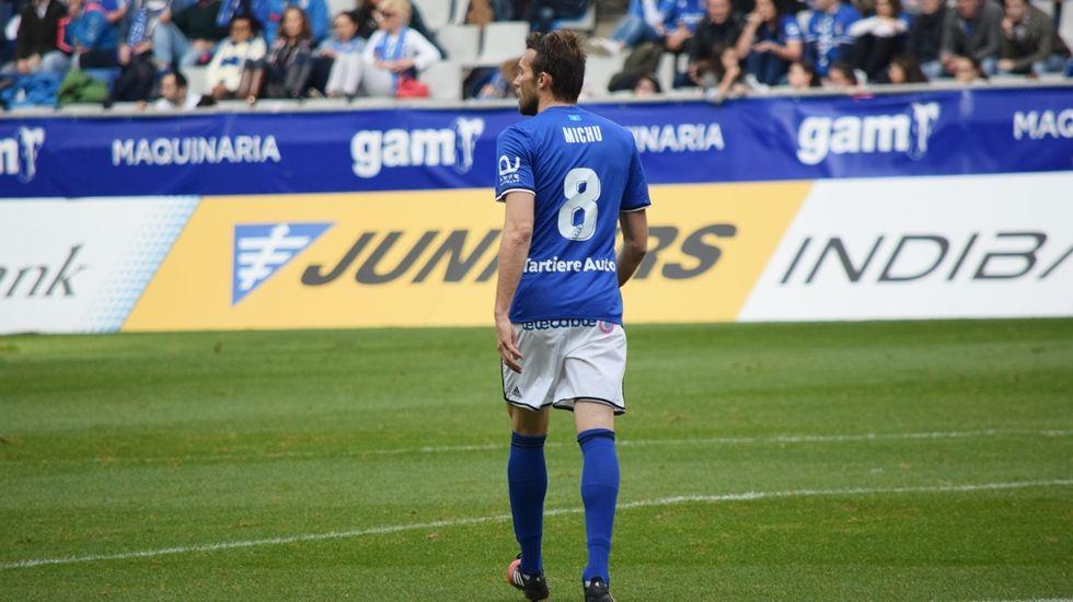 Michu Real Oviedo Nastic Carlos Tartiere.Michu en el encuentro frente al Nástic en la temporada 16/17
