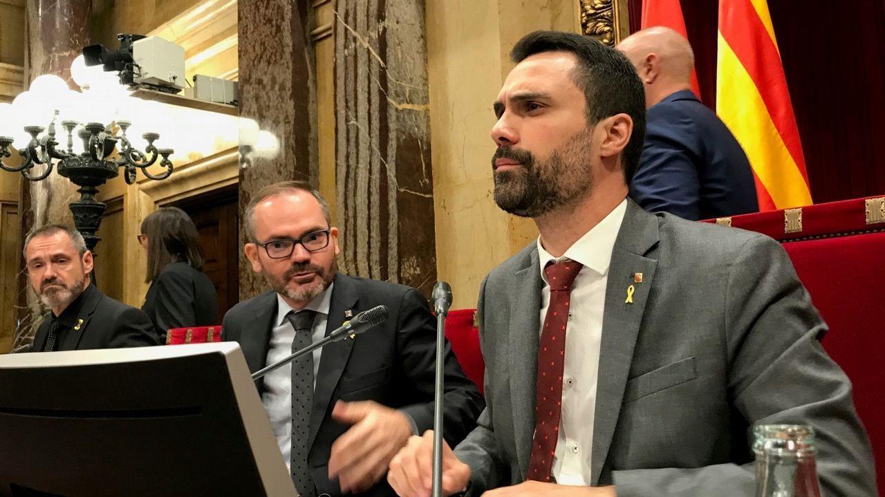 El Parlament rechaza la autodeterminación de Cataluña.El president Quim Torra en una escuela infantil el primer día de curso
