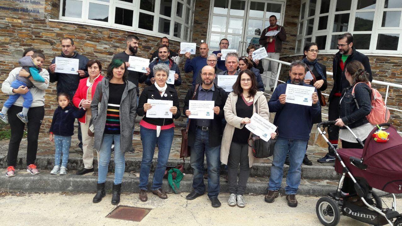 Actos contra la violencia machista en Chantada, Monforte y Quiroga
