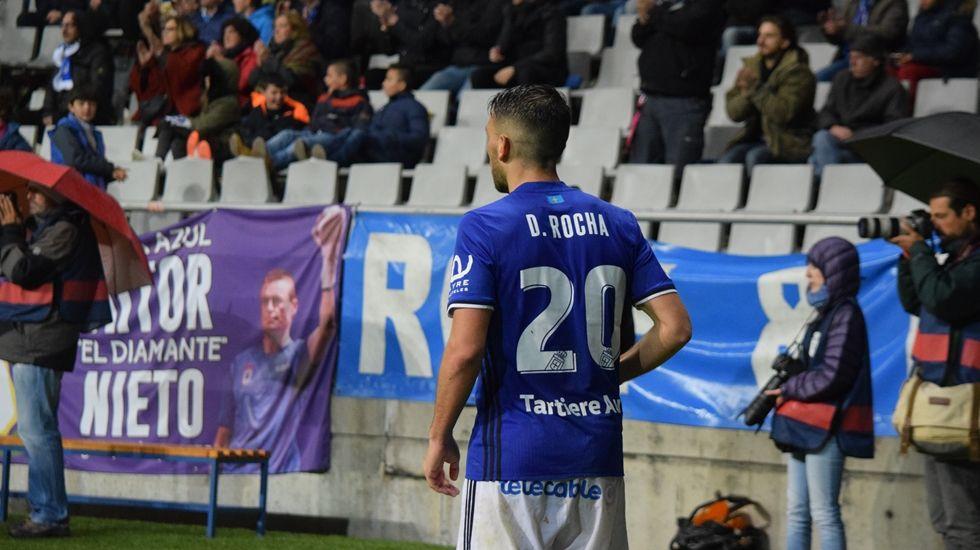 David Rocha durante un partido en el Tartiere