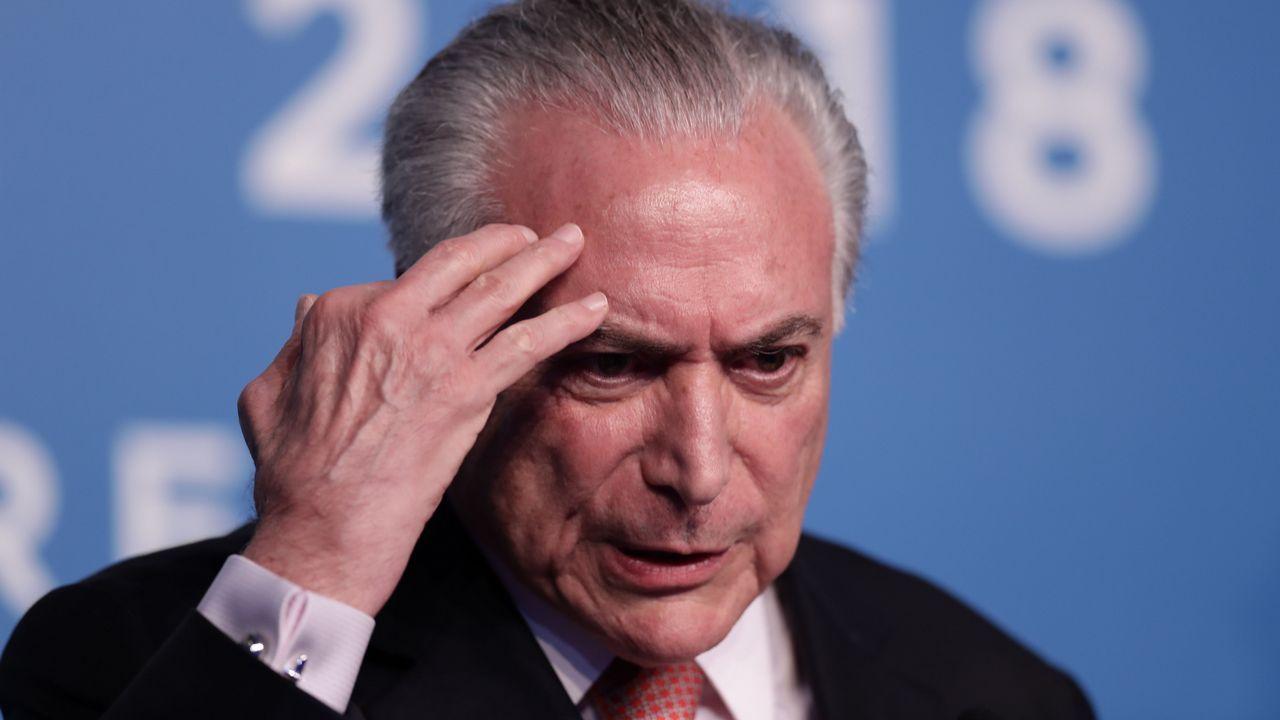 Temer está siendo investigado en el marco de uno de los casos por los que ha sido condenado Lula da Silva