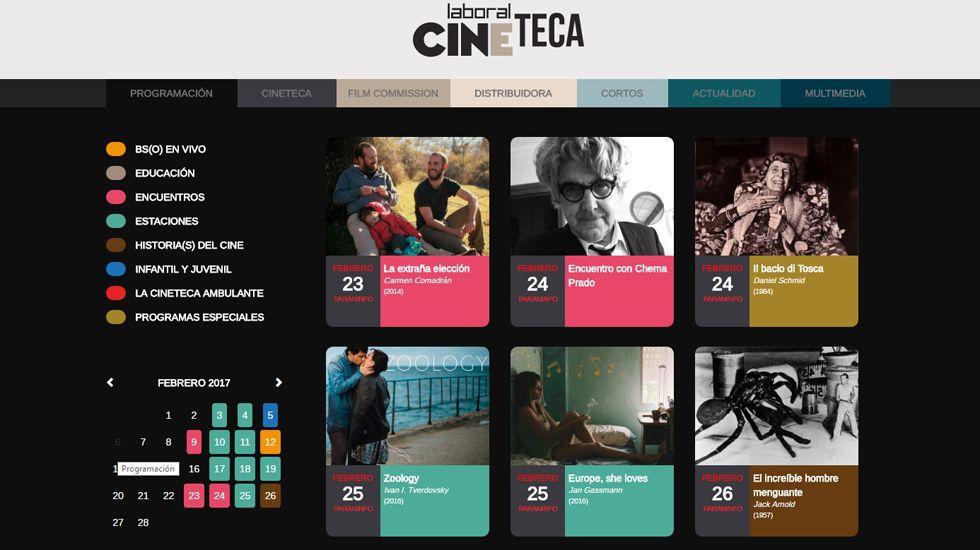 Página oficial de Laboral Cineteca.Página oficial de Laboral Cineteca