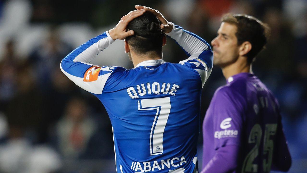 Las mejores imágenes del Deportivo - Las Palmas.David Simón ha reconocido su mal partido contra el Alcorcón