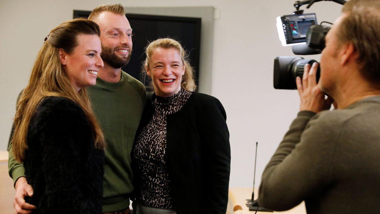 La fotógrafa Laura van Severen inmortaliza el vertedero de Serín.Tres de los demandantes