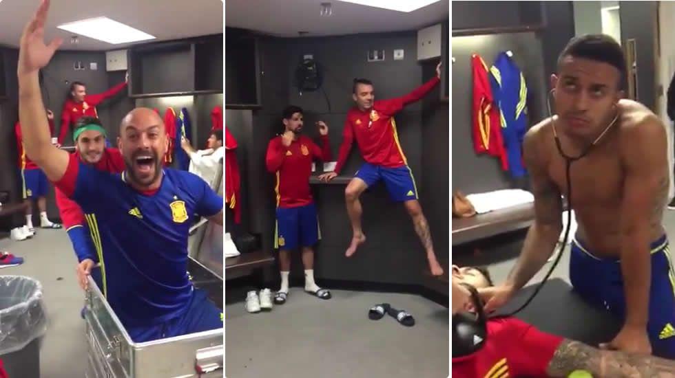 La selección española también se congela para el «Mannequin Challenge».