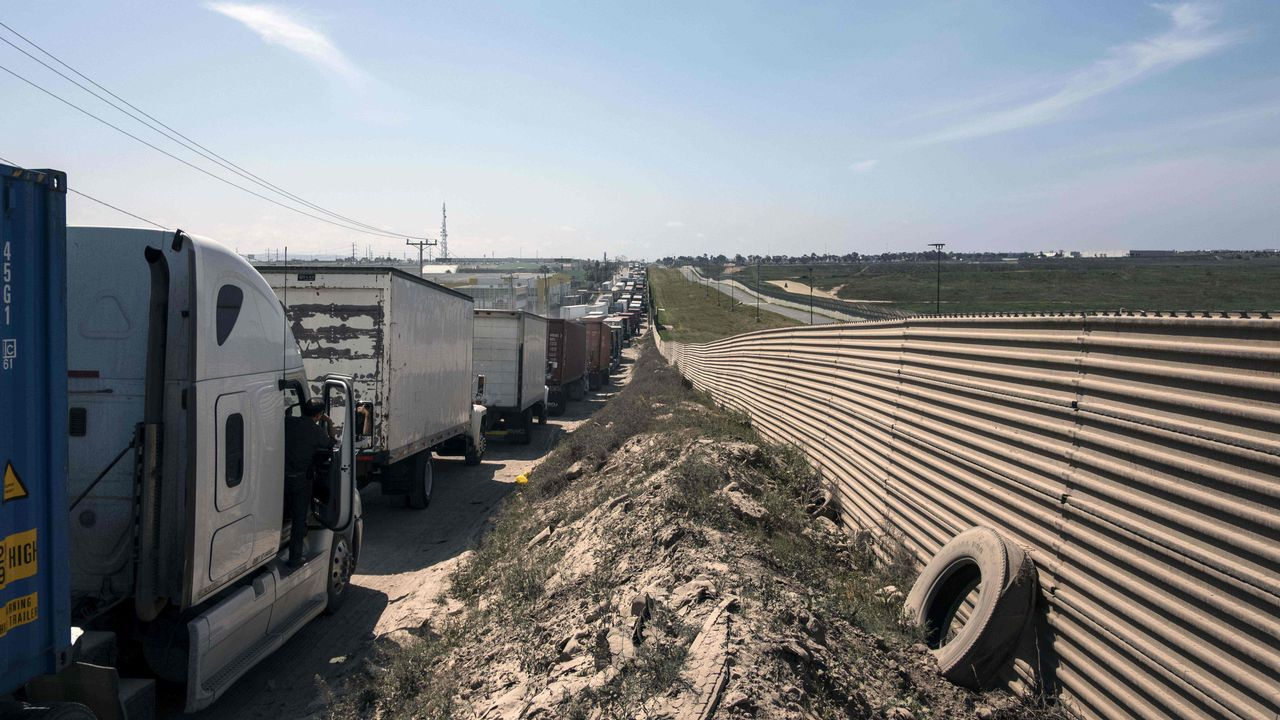 .Frontera entre México y Estados Unidos en Tijuana