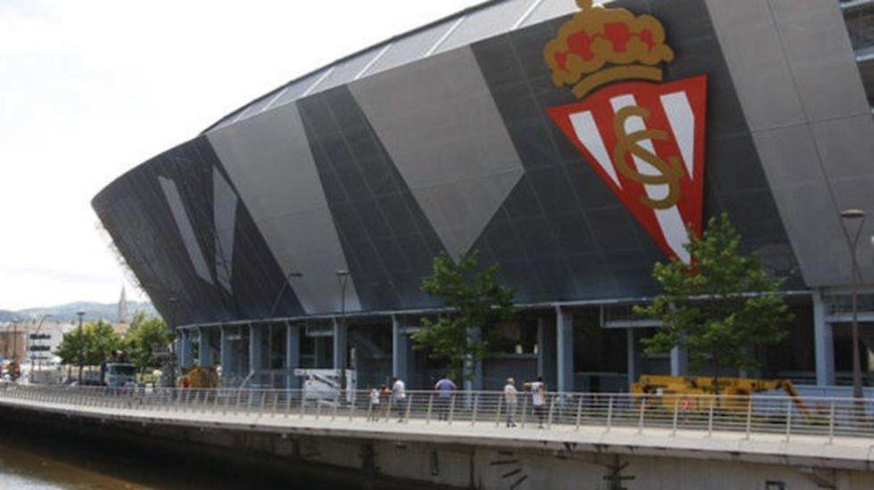 Gradas vacías en el estadio del Getafe