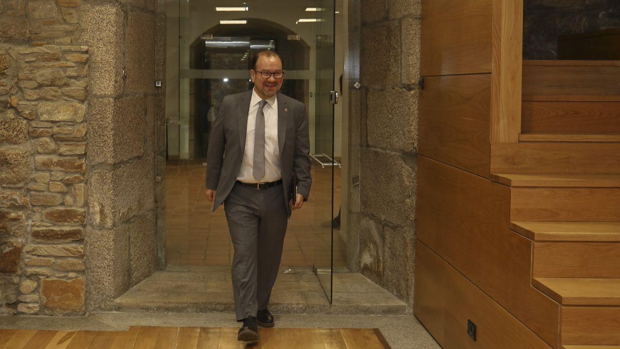 Así ha cambiado la Facultade de Farmacia.Antonio López mantuvo esta mañana un encuentro con los medios de comunicación en Fonseca