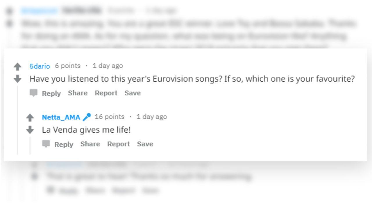 Mensaje de la cantante