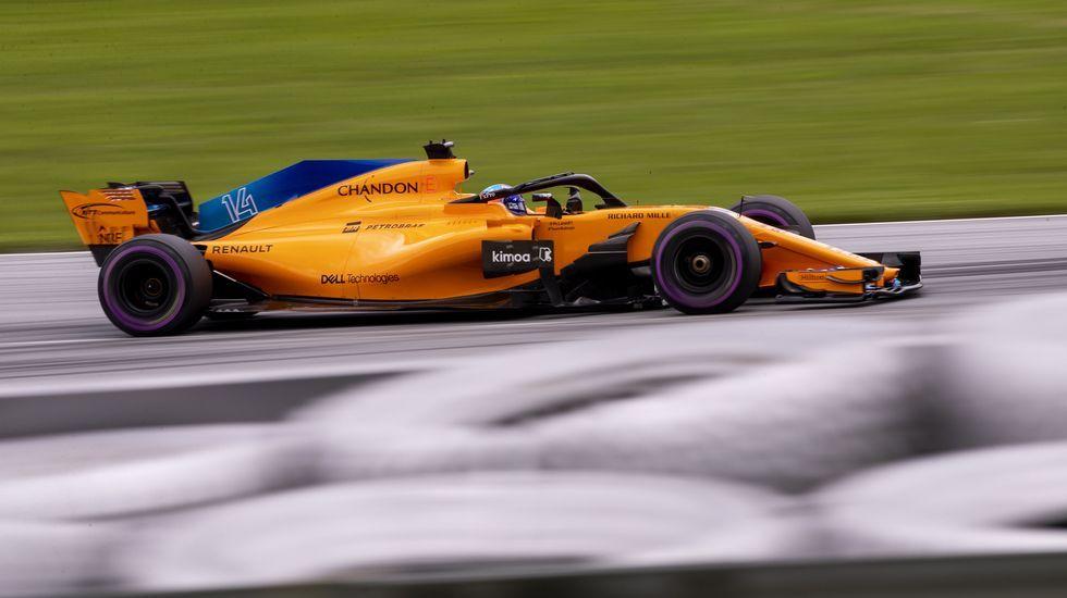 .Fernando Alonso en el circuito de Spielberg, en Austria