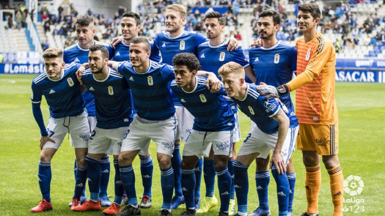 Saul Berjon Fali Real Oviedo Nastic Carlos Tartiere.Alineación del Oviedo ante el Nàstic