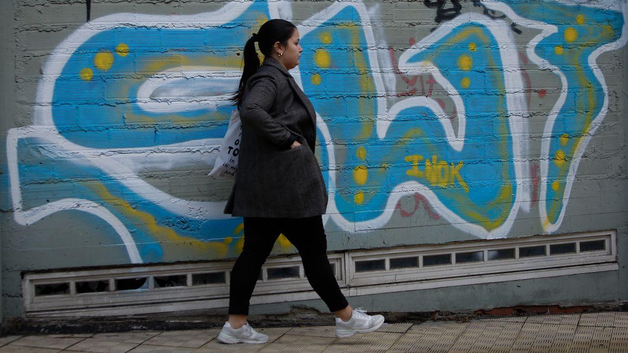 manifa edu.Primera manifestación día internacional de la mujer en A Coruña, por la mañana.
