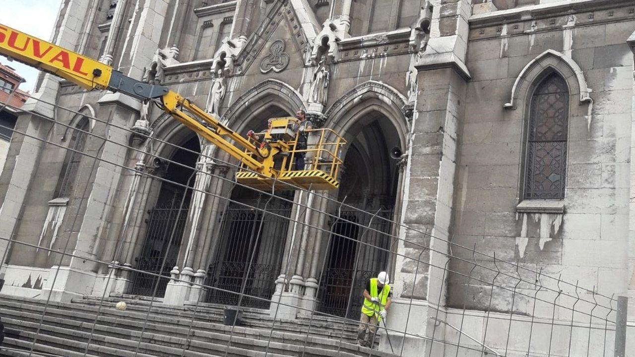 Reparaciones en la iglesia de Sabugo