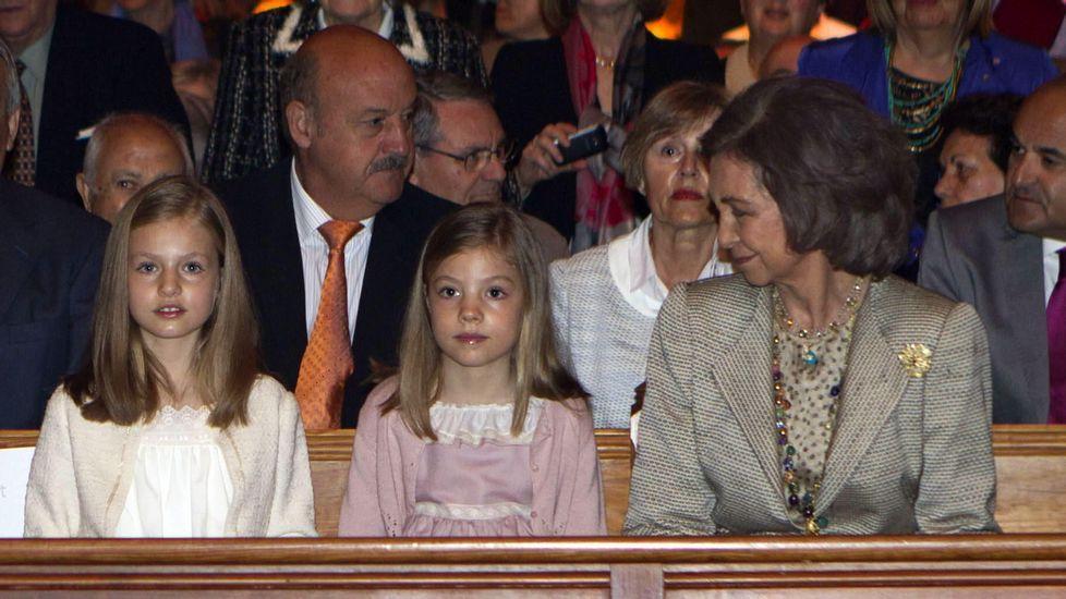 .En abril del 2015 en la misa de Pascua en Mallorca.
