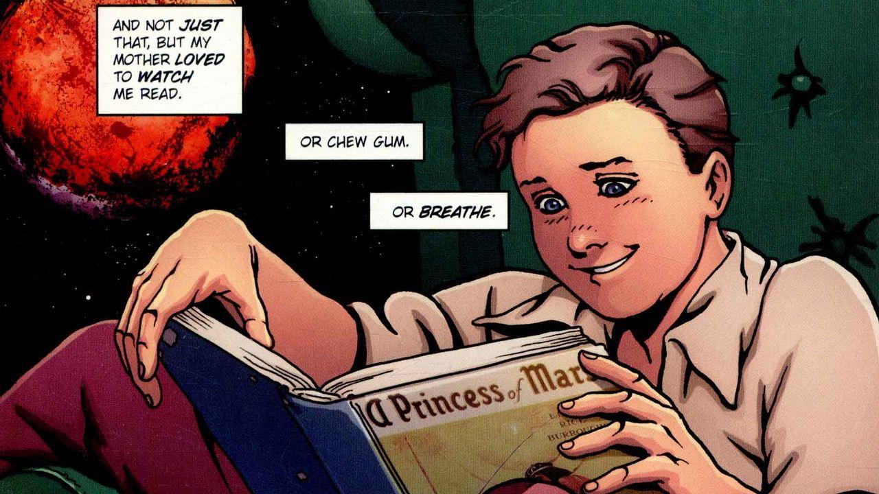 Detalle de una de las viñetas del cómic sobre Stan Lee en su edición original estadounidense