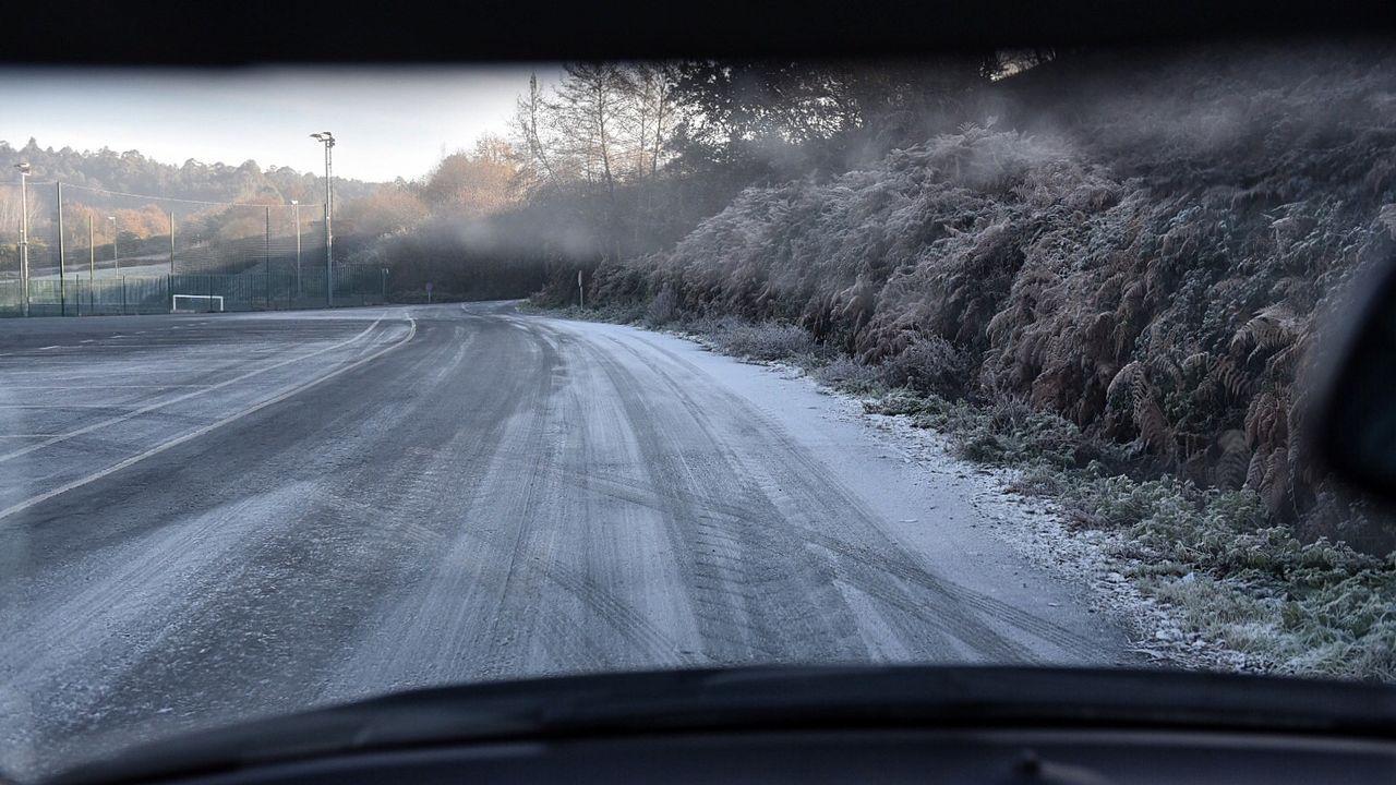 Frías heladas en la zona de Abegondo y O Pedrido, en la provincia de A Coruña