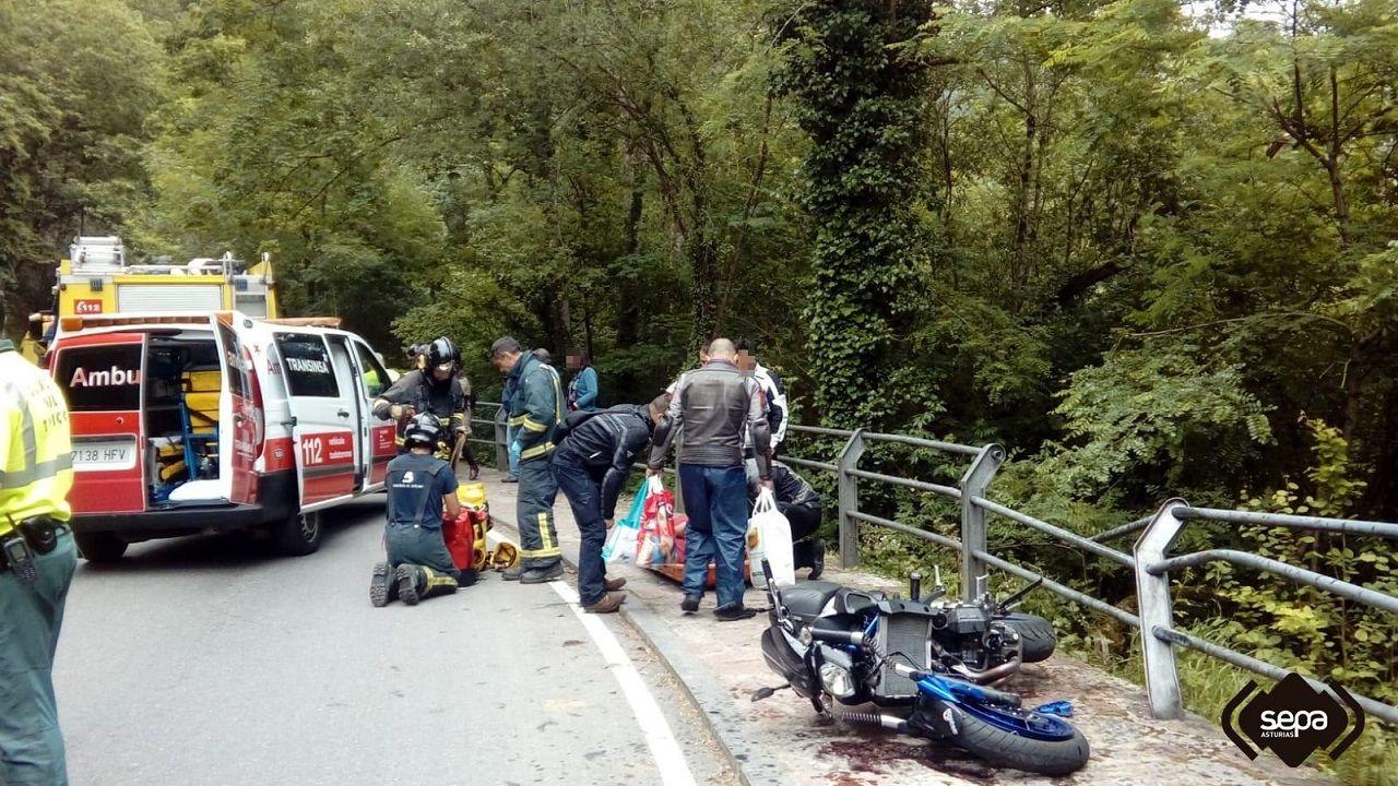 economía circular, planta, naturaleza, reciclaje, recursos, tierra.Intervención de los servicios de emergencia en el accidente de los dos motoristas de Covadonga
