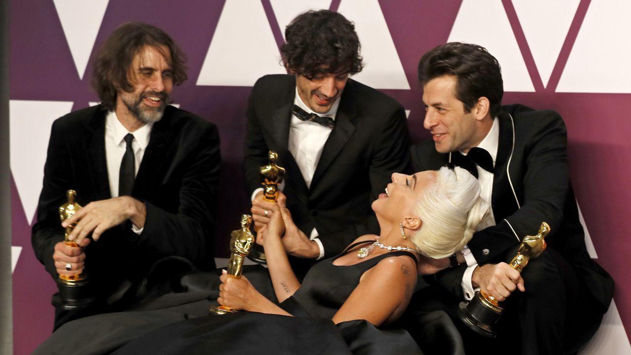 Andrew Eyatt, Anthony Rossomando, Mark Ronson y Lady Gaga