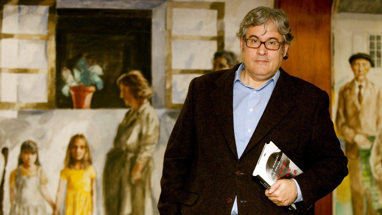 El escritor Juan Manuel de Prada, en Santiago, donde presentó su nuevo libro