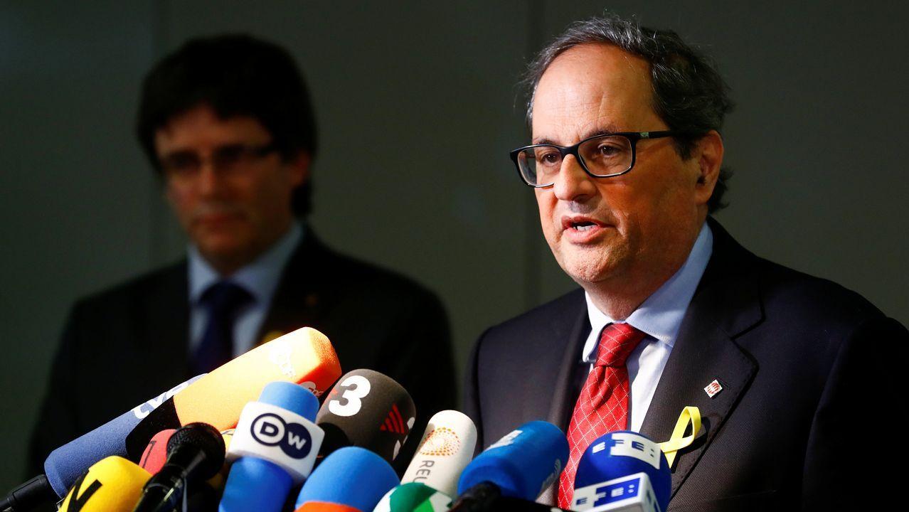 Torra pedirá por carta una reunión a Rajoy para exigirle que levante el 155.Puigdemont, hoy en Berlín