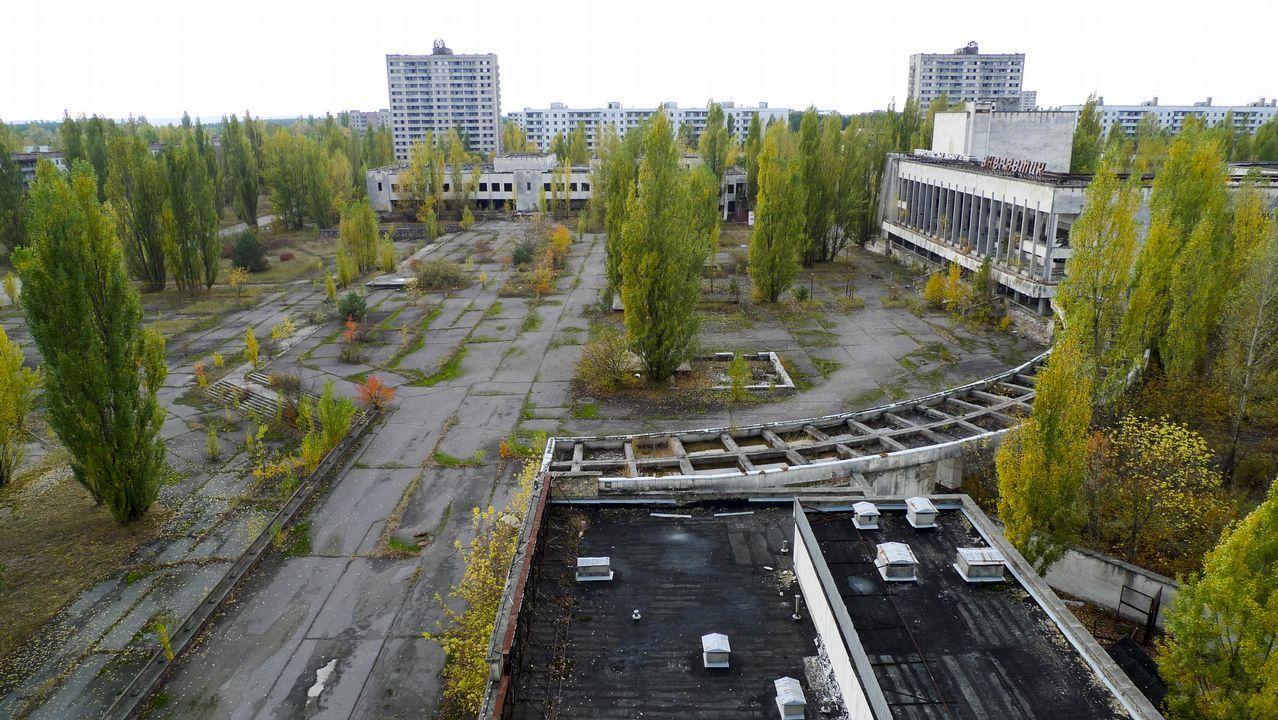Vistas de la ciudad abandonada de Pripyat, donde vivían los trabajadores de la planta nuclear