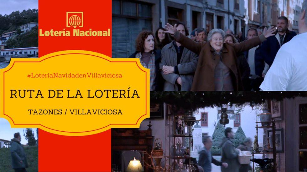 Las procesiones del Romingo de Ramos en A Coruña.Cartel de la Ruta de la Lotería en Tazones y Villaviciosa
